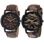 Stylox Set Of 2 Casual Watch For Men (product Code - Wh-2cmbo-141-142)