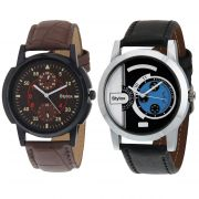 Stylox Set Of 2 Casual Watch For Men (product Code - Wh-2cmbo-141-144)