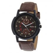 Stylox Brown Dial Watch For Men (product Code - Wh-141)