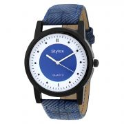 Stylox Blue Round Dial Men's Watch (product Code - Wh-stx166)