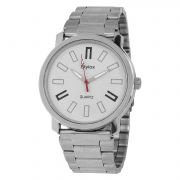 Stylox White Analog Watch For Men [Stx213]