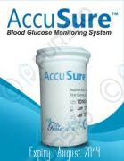 50 Test Strips For Accu Sure AccuSure Blood Glucose Monitor By Dr. Gene