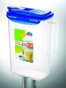Lock&Lock Aqua Fridge Door Water Jug With Flip Top Lid, 2 Litres