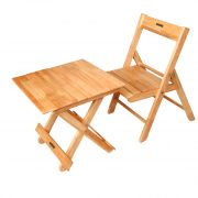Roger & Moris Wooden Baby Folding  Table & Chair