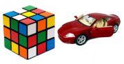 Buy 1 Jaguar Xk Coupe Die Cast Pull Back Car & Get 1 Rubik''s Cube Puzzle