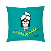 Yedaz Satin Filled With Polyfibre 16x16 Green Bollywood Cushion - Lo Karlo Baat