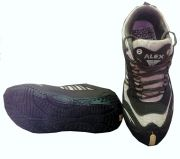 Alex Sports Cool Air Brown And White Running Shoes_ALEX-BROWN