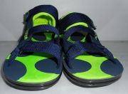 Men Light Weight Sandals In Deep Blue And Green