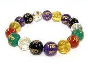Om Mani Bracelet Fengshui Crystals Om Mani Padme Hum Tibetan Charm Bracelet