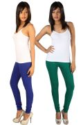 Pack Of 2 - Rham Royal & Morpich Cotton Lycra Slim Fit Leggings