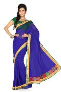 De Marca Blue   Art Silk Saree - G-219