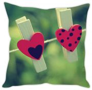 Stybuzz Heart Clips Cushion Cover