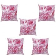 Stybuzz Rose Abstract Art Cushion Cover- Set Of 5