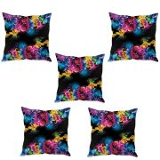 Stybuzz Floral Abstract Art Cushion Cover- Set Of 5