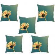 Stybuzz Pink Flower Cushion Cover- Set Of 5