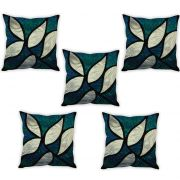 Stybuzz Glass Painting Art Cushion Cover- Set Of 5