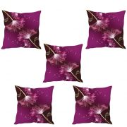 Stybuzz Abstract Floral Art Cushion Cover- Set Of 5