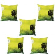 Stybuzz Elegant Woman Art Cushion Cover- Set Of 5