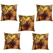 Stybuzz Tree Abstract Art Cushion Cover- Set Of 5