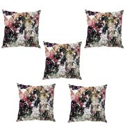 Stybuzz Girl Abstract Art Cushion Cover- Set Of 5