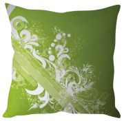 Stybuzz Green Abstract Art Green Cushion Cover