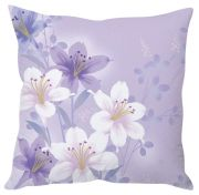 Stybuzz Mauve Floral Abstract Art Mauve Cushion Cover