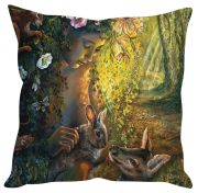 Stybuzz Nature Art Painting Yellow Cushion Cover