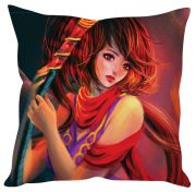 Stybuzz Girl Abstract Art Red Cushion Cover