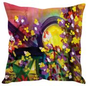 Stybuzz Floral Abstract Art Pink Cushion Cover