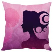 Stybuzz Girl Abstract Art Pink Cushion Cover