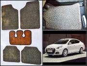 Washable Car Floor Mats For Renault Scala - (Paw Design - Brown & Black)