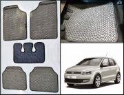 Washable Car Floor Mats For Volkswagen Polo - (Kawaii Design - Grey & Black)