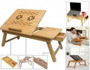 Portable Multipurpose Laptop Wooden E-table For Study Reading