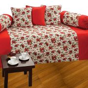 Fabulloso Red Rose Garden Diwan Set