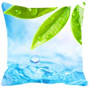 Leaf Designs Green & Blue Leaf Cushion Cover - Code  53863312091