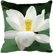 Leaf Designs White Green Cushion Cover - Code  53863522091