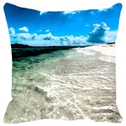 Leaf Designs White & Blue Waves Cushion Cover - Code  53863102091