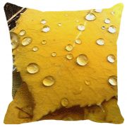 Leaf Designs Yellow Leaf Water Drops Cushion Cover - Code  53864672091