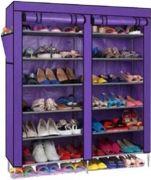 Homebasics 6 Layer Double Dustproof & Damproof Shoe Rack Multicolor