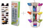 10 Layer Portable Amazing Shoe Rack With Smart Carousel Organiser - Amw