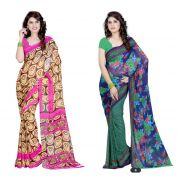 Styloce Set Of 2 Georgette Saree Combo . Sty-8840-8841