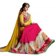 Styloce Georgette Multicolor Embroidered Saree - Sty-9247