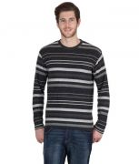 Hypernation Round Neck T-Shirt With Multi Color Striped