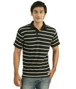 Hypernation Black And White Polo T-Shirt