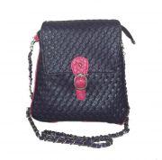Estoss Purple Metal Chain Sling Bag