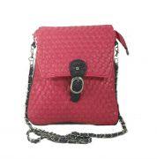 Estoss Pink Metal Chain Sling Bag