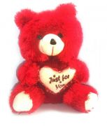 Grj India 12 Inches Teddy Bear - Red