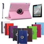 360 Degree Rotating Leather Smart Cover Case Stand For Apple Ipad 2,3,4