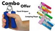 Combo Offer Combo Of Hand Gripper With Form Skipping Jumping Rope 4 Kids