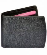 Sondagar Arts Black Bi Fold Mens Leather Wallet